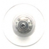 Earring Barrel Nickel Clutch With Plastic Disc